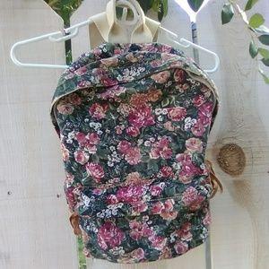 Brandy Melville Floral Canvas Backpack